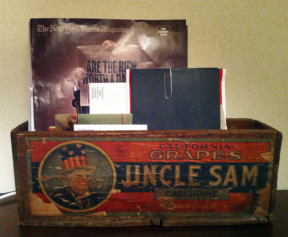 Turn-of-the-Century Uncle Sam Wine Box at home